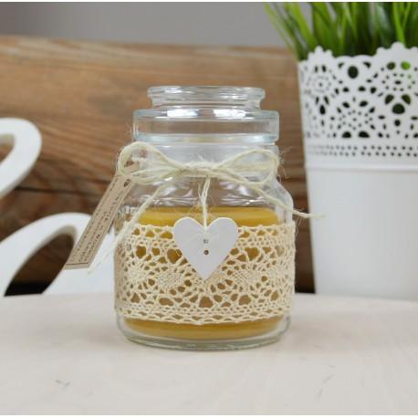 Świeczka z wosku pszczelego