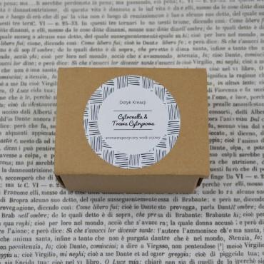 Sojowe woski zapachowe z naturalnymi olejkami Cytonella Trawa Cytrynowa