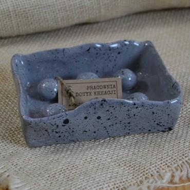 Mydelniczka Ceramiczna Granit Dotyk Kreacji