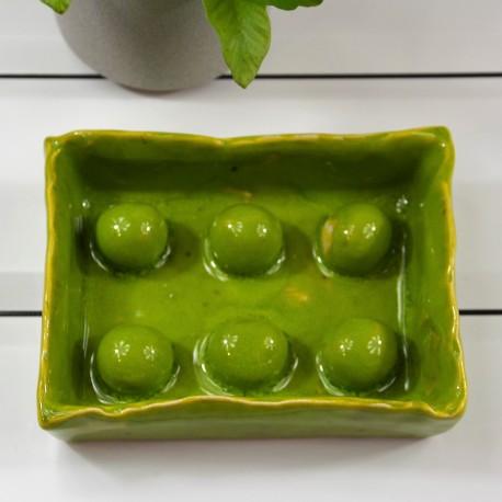 Mydelniczka porcelanowa zielona