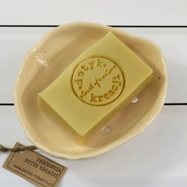 Mydelniczka ceramiczna z otworami beżowa Dotyk Kreacji
