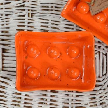 Mydelniczka ceramiczna pomarańczowa Dotyk Kreacji