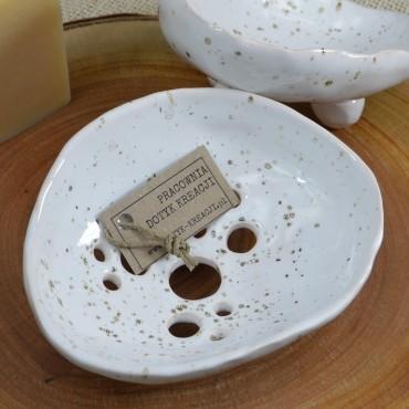 Mydelniczka ceramiczna biała Dotyk Kreacji
